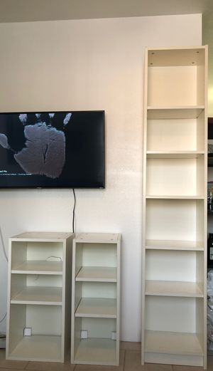 3 white bookshelves for Sale in Temple City, CA