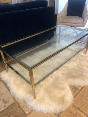 """COFFE TABLE 2 TIER GLASS 48""""x 24"""" for Sale in Chino, CA"""