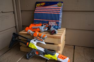 2 Nerf toy guns with 100 darts for Sale in Village, OK