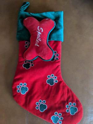 Dog Christmas stocking for Sale in Lemont, IL