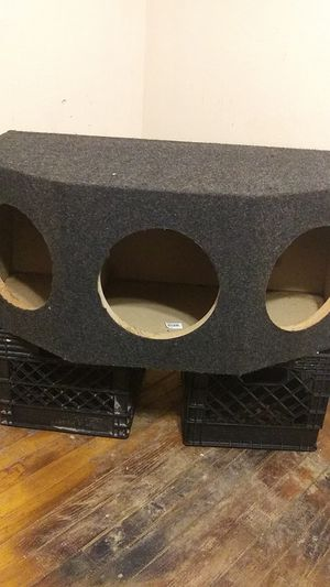 """Arc triple 10""""subwoofer 1"""" msg sealed universal fit rearfire sub box speaker enclosure for Sale in Fairview Heights, IL"""