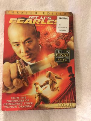 Fearless DVD Jet Ali Unrated Edition New Sealed for Sale in Joint Base Pearl Harbor-Hickam, HI