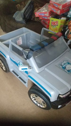 Police Silverado power wheels Jeep very nice clean everything works for Sale in Simpsonville, SC