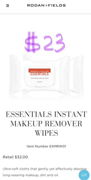 *NEW SEALED* Rodan and Fields make up remover wipes for Sale in Arcadia, CA