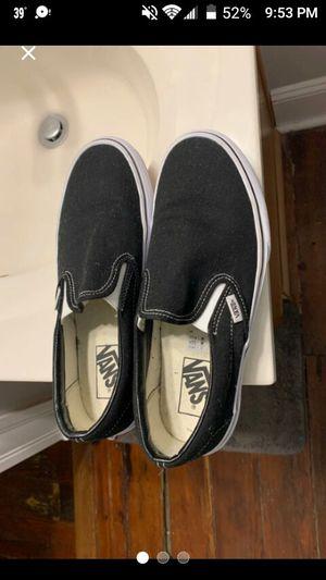 Woman's Size 9 Men's 7.5 Vans Shoes Black Slip On for Sale in Roselle, IL