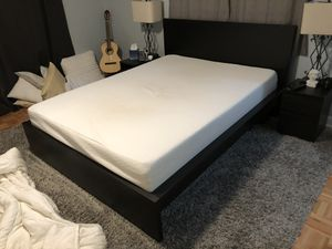 Zinus Queen Memory Foam Mattress and IKEA Malm Black Queen Bed Frame for Sale in Orlando, FL