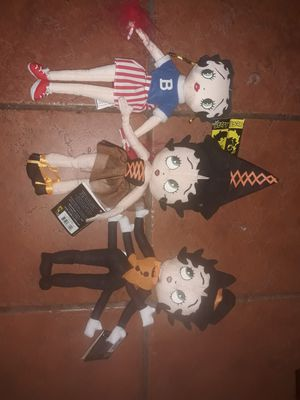 3 collectible new with tags Halloween costume Betty Boop plush toys for Sale in Hawthorne, CA