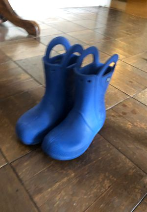 Crocs Kids' Handle-it Rain Boot Shoe size 12 for Sale in Norwalk, CA