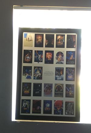Star Wars Movie Poster Collage Board (Good Condition) for Sale in Fontana, CA