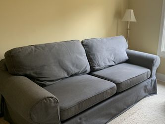 Ikea Full Sleeper Sofa Bed With Light Blue Changeable Cover for Sale in Redmond,  WA