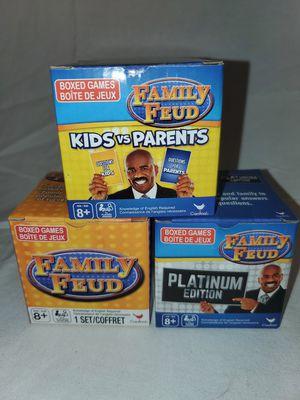 Family Feud Trivia Game Lot: 3 Box Sets Platinum Edition Kids vs Parents TV Show for Sale in Florissant, MO