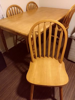 Wood Table 4 Chairs. for Sale in Durham, NC
