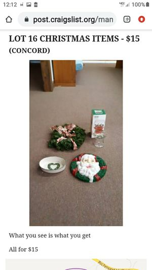 LOT # 16 CHRISTMAS ITEMS for Sale in Lynchburg, VA