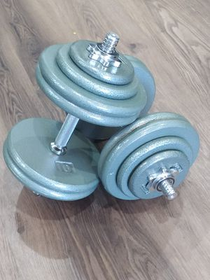 Cast iron Adjustable dumbbells set 2x58lbs(116lbs total) for Sale in West Hollywood, CA