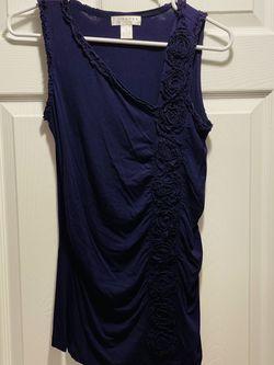 Women's Kenar Dark Purple Sleeveless Shirt Size S for Sale in Jericho,  NY