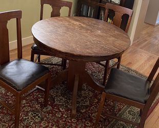 Tiger Oak Dining Table and 4 Chairs for Sale in Seattle,  WA