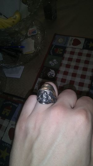 Silver Skull Ring for Sale in Euless, TX