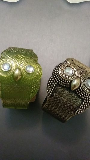New 2 owl cuff bracelets for Sale in Yonkers, NY