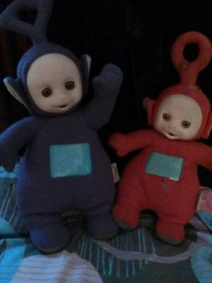 Red and purple teletubbies for Sale in Las Vegas, NV