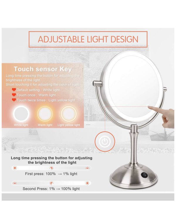 Brand new LED Makeup Mirror-10x Magnifying