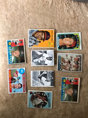 CARDS BASEBALL VINTAGE TED WILLIAMS ROD CAREW BIB GIBSON MORE for Sale in Downey, CA