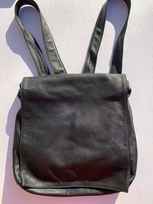 Womens Black Leather Backpack Purse-BEAUTIFUL, SOFT LEATHER for Sale in Hainesport, NJ