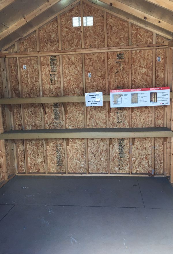 Tuff Shed former display model was $5008 now $3756