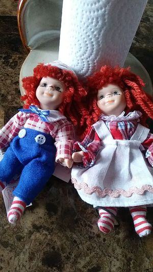 Porcelain Raggedy Andy and Raggedy Ann for Sale in Anthony, NM