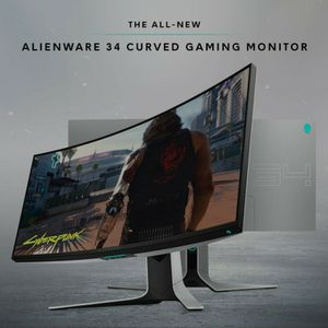 Alienware AW3420DW NEW Curved 34 Inch WQHD 3440 X 1440 120Hz, Monitor, Lunar Light for Sale in Beverly Hills, CA
