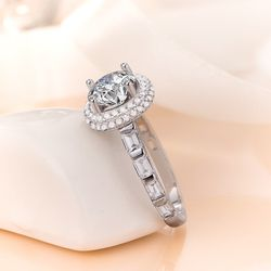 Beautiful Solid 925 sterling Silver Diamond Promise Engagement Wedding Ring 💍 for Sale in San Jose,  CA