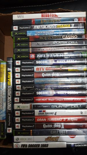 25 games - xbox 360, PS2, and Wii for Sale in Irving, TX