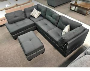 New Sectional Couch with ottoman only $50 down for Sale in Los Angeles, CA