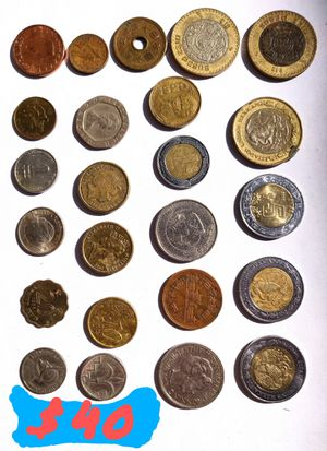 Collection of 24 Foreign Coins Various Countries for Sale in Orange, CA
