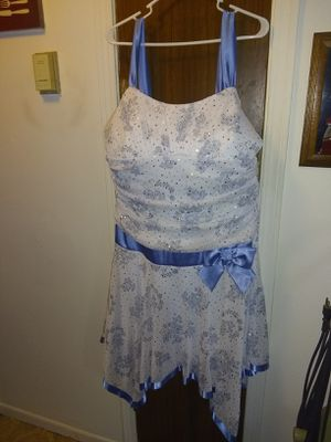 Fancy Dress Blue, Silver, & White for Sale in Imperial, MO