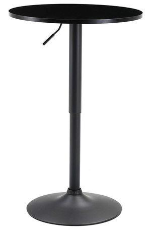 "BTEXPERT Industrial Adjustable 27-36"" Height Metal Bar Table Swivel 23.8 Round MDF Wood Top Cocktail Pub Bistro Black Base for Sale in Orange, CA"