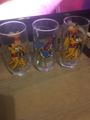 3 Vintage Pepsi Collectible Glasses 2 Pluto's & 1 Daisy for Sale in Dallas, TX