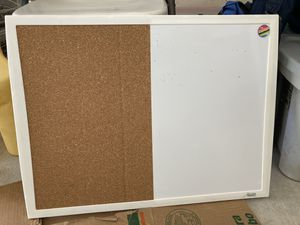White and cork board for Sale in Round Rock, TX