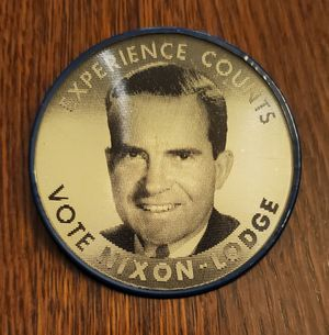 VIntage 1960s Nixon Lodge Presidential Campaign Flasher Pin Back Button for Sale in Goodyear, AZ