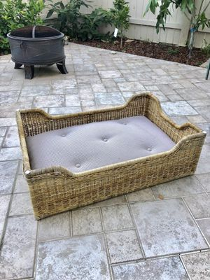 Custom dog bed (Real Wicker) for Sale in Lake Forest, CA