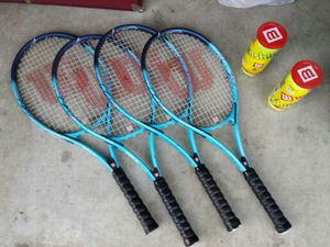 For Wilson breast cancer tennis rackets with two packs of Wilson balls for Sale in Hendersonville, TN