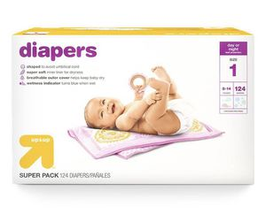 Diapers Super Pack Size 1 - 124ct - Up & UpM🔥🔥 for Sale in Houston, TX