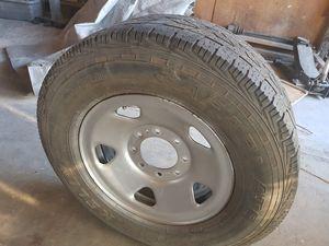 4 Rines con llantas Ford F250 y 350 8 birrios precio 200 x los 4 for Sale in Hesperia, CA
