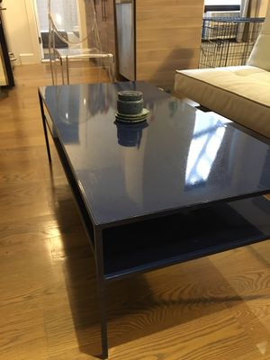 Blue Metal Coffe Table for Sale in Brooklyn, NY