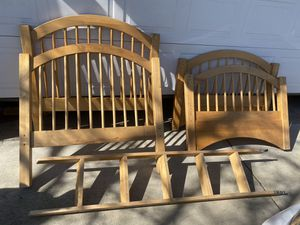 Solid wood single or bunk bed for Sale in Sacramento, CA