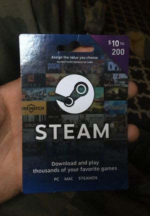 Pc games steam card with 50 for Sale in Virginia Beach, VA