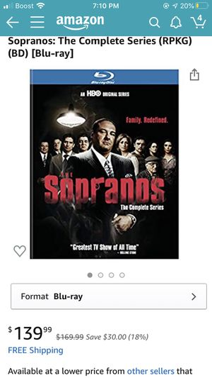 The Sopranos The Complete Series Blu-ray for Sale in DeBary, FL