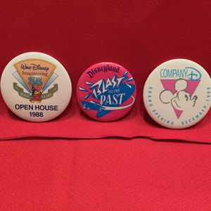 Disney Cast Member Buttons from 1988 - Walt Disney Imagineering/Blast to the Past/Company D for Sale in Chandler, AZ