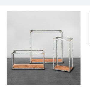 Hearth & Hand with Magnolia - Galvanized Metal and Wood Wall Shelf (Set of 3) for Sale in Kannapolis, NC
