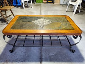 Stone/wood coffee table for Sale in West Seneca, NY
