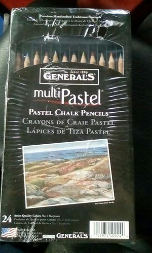 General's multiPastel premium pastel chalk pencils (24 pack) for Sale in West Sacramento, CA